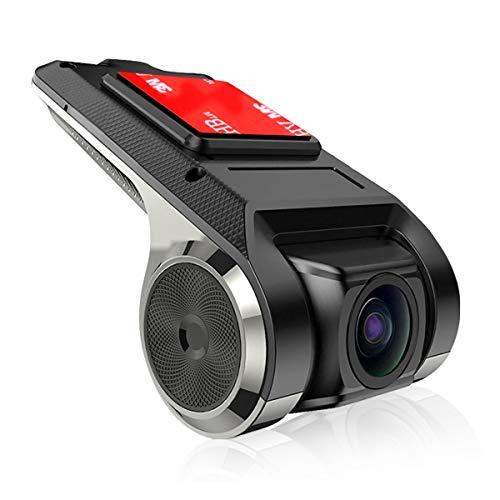 Dr.Lefran Dash CAM GPS, Cámara de Tablero Stealth Full HD 1080P, cámara Frontal USB Grabador de Video DVR para automóvil Cámara de Tablero Grabadora de conducción portátil Cámara,with 16g TF