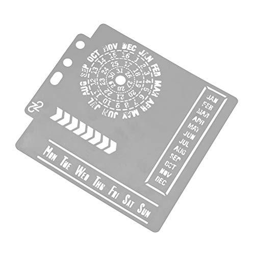 SUPVOX Plantilla de Dibujo de Calendario para Craft Scrapbooking Decoración de Diario Cuaderno