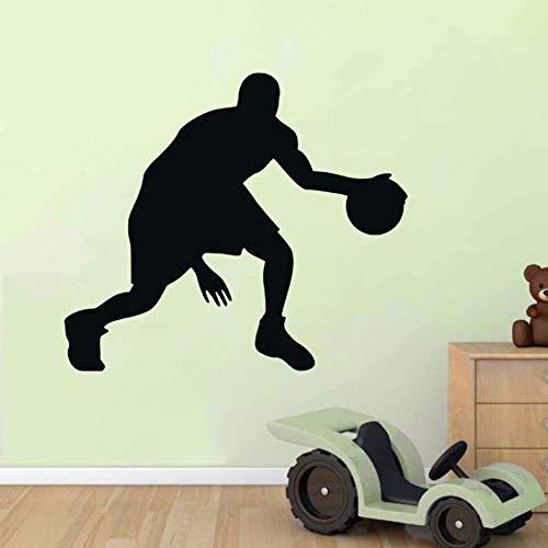 yaonuli Athleten Muursticker, vinyl, slaapkamer, wanddecoratie, vinyl, lijm, bloem