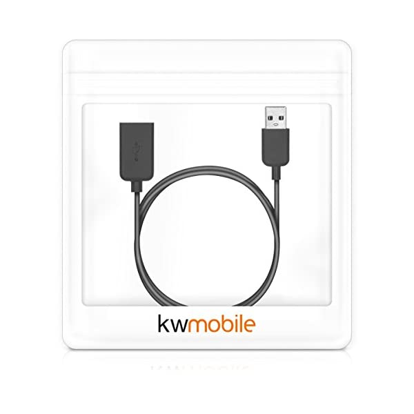 kwmobile Cable de Carga Compatible con Polar M200 - Conector USB con Base de conexión para Fitness Tracker y smartwatch 2
