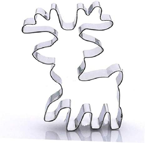 1 Pcs Cookie Cutter Reindeer Steel #AA60DL Manufacturer Tucson Mall direct delivery Stainless Shape