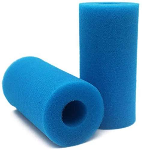 Filtro de Espuma para Piscina, Esponja de Filtro Tipo A, Esponja de Cartucho, Reutilizable, Lavable, Herramienta de Limpieza Reutilizable de Repuesto para Intex Tipo H Azul 2 Piezas