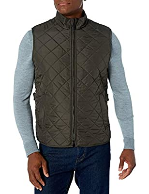 Hawke & Co Men's Pro Series Diamond Quilted Fleece Lined Vest, Loden, Small by Hawke & Co