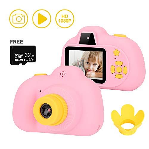 HALOVIE Cámara Digital para Niños con Tarjeta de Memoria de 32GB 2