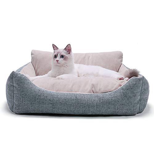 Achort Cuccia in Peluche per Gatti Cani di Piccola Taglia, Morbida e Comoda Cuccia per Gatti Lavabile con Cuscino Rimovibile
