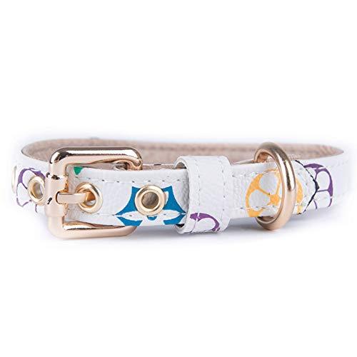 Collar de perro de PU para cachorro, correa para mascotas, collar de gato, cordón retráctil para perro Pomeranian Chihuahua Arnés para cachorro, accesorios para cachorros, 1-XS