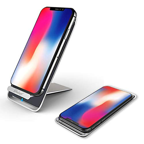 Wireless Charger Portable Phone Charger, Qi Certified 10W Fast Wireless Charging Pad Stand for Galaxy S9/S9+ Note 8/5 S8/S8+ S7/S7 Edge S6 Edge+, Standard Qi Wireless Charging Stand for iPhone X/8/8+