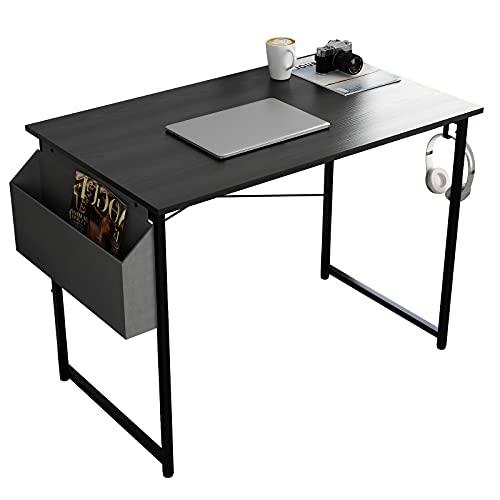 SogesHome Escritorio de ordenador con bolsillo lateral de tela para oficina, resistente, mesa de estudio, computadora portátil, estación de trabajo para el hogar y la oficina 100 x 50 SH-AGJJ-D01-100B
