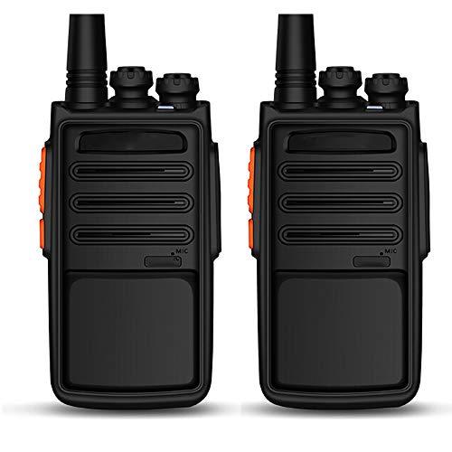 HGFDSA Walkie Talkies Ricaricabile a Lungo Raggio, Palmare Portatile 16 Canali Radio Ad Alta Potenza con Caricatore USB per Comunicazione in Bicicletta per Escursionismo per Adulti (Confezione da 2)