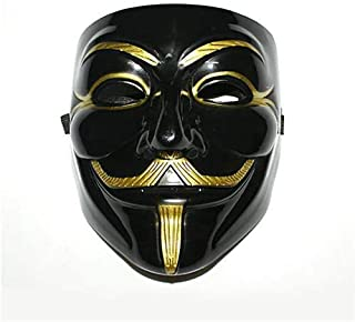 Masquerade V for Vendetta Mask Guy Fawkes Adult Costume Accessory Party Cosplay Masks black