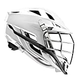 Cascade S Youth Lacrosse Helmet (White Shell/Chrome Mask) - Recommended for Ages 12 & Under