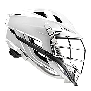 Cascade S Youth Lacrosse Helmet  White Shell/Chrome Mask  - Recommended for Ages 12 & Under