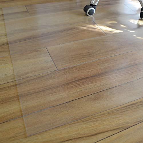 Xpnit Transparente Stuhlmatte, PVC, matt, Schutzmatte, rutschfeste Stuhlunterlage, rechteckige Bodenschutzmatte für Zuhause, Büro, Rollstuhl, Hartboden (80 x 120 cm)