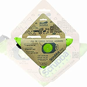 Scrubba Mini Bolsa de Lavado ultracompacta Ideal para Viajes, Camping y Senderismo   Bolsa portátil para Lavadora y Seca, Esencial para Viajes, Color Verde