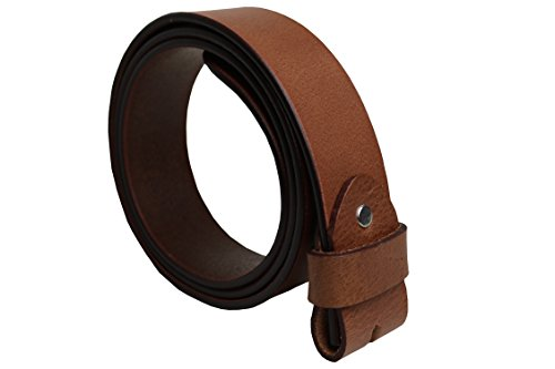 Unbekannt Gürtelrohling Gürtelband Gürtel ohne Schließe 100% Büffelleder Sattlerware 4cm breit 0,4cm stark incl. kompl. Montagesatz