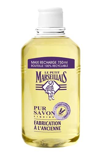 Le Petit Marseillais Maxi Recharge Pur Savon Liquide Pour les Mains, Lavande, 750ml