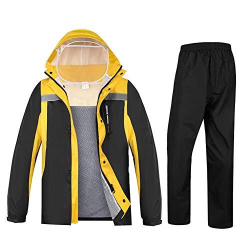 AWJK Imper Pluie Pantalon Costume Complet du Corps imperméable Moto électrique de Split Adulte Randonnée équitation Imper Veste Homme Salopette sécurité,L