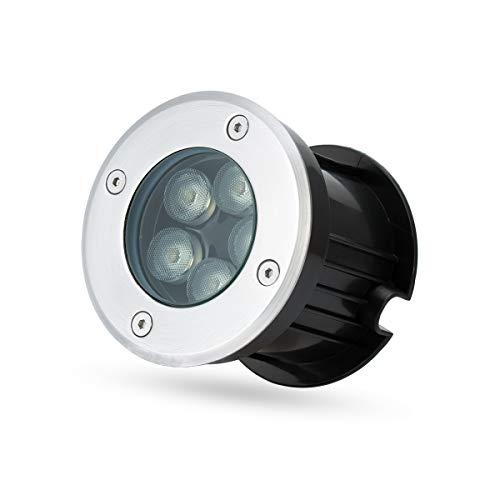 Foco LED empotrable en el suelo de 5 W, blanco cálido, para