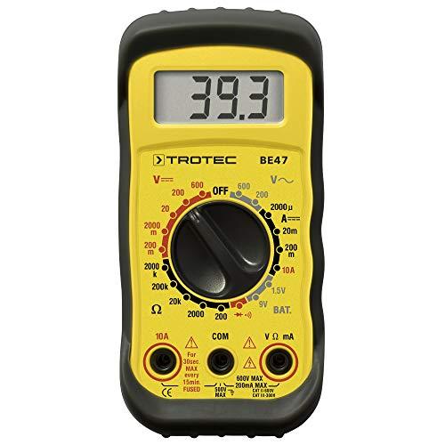 TROTEC Multimeter BE47 Multifunktionsgerät Heimwerker Dioden Batteritest Strom messen prüfen