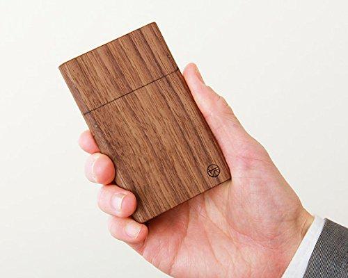 ヤクモ家具製作所 木製名刺ケース ウォールナット材 カードケース 名刺入れ 木製ケース ブラウン