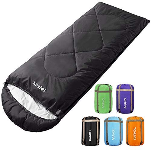 PARKOL Sleeping Bag for Adults & Kids - 4 Seasons Warm & Cold Weather - Waterproof, Lightweight, Portable, Camping Gear Equipment for Outdoor,Hiking, Backpacking