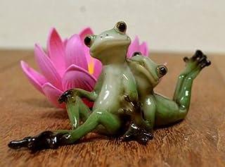 アジアン雑貨 バリ雑貨 ♪二匹じゃれ合い蛙♪ 置物 オブジェ オーナメント カエル 蛙 かえる グッズ エスニック