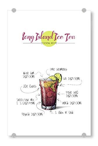 artboxONE Acrylglasbild 90x60 cm Essen & Trinken Cocktail Long Island Ice Tea - Bild Rezept Cocktail Nightlife