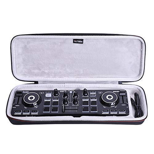 LTGEM Case for Hercules DJ Control Compact Mixer,Hard EVA Storge Bag-black(white lining)