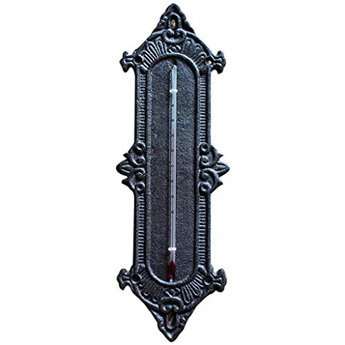 Mankvis Termometro per La Decorazione della Casa da Giardino, Termometro in Ghisa per La Decorazione del Salotto da Giardino Interno E La Misurazione della Temperatura Utilizzando H31CM