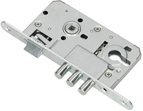 KOTARBAU Cerradura empotrable 72/50 mm, cerradura de puerta, perno, cerradura de seguridad universal L/R, cerradura de puerta corredera para interior y exterior