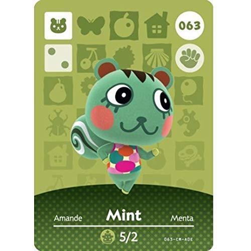 BestTom No.063 Many popular brands Mint ACNH Animal Par Card Made.Third Factory outlet Fan Villager