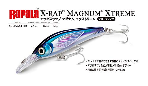 Rapala(ラパラ) ミノー Xラップ マグナム エクストリーム 16cm 68g HDトビウオUV HDFFU XRMAGXT160-HDFFU ルアー
