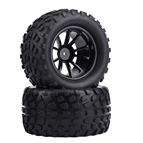 Drfeify Neumático RC, 4pc/Set 1:10 Neumático de Rueda RC Neumáticos de Goma compatibles con hsp redcat Exceed Truck Off-Road Car(10 Agujeros)