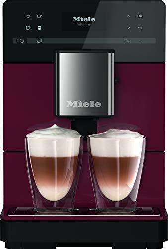 Miele CM 5310 Silence Stand Kaffeevollautomat / OneTouch for Two / Reinigungsprogramme / Kannenfunktion / cremiger Milchschaum / Brombeerrot