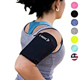 Phone Armband Sleeve Best Running Sports Arm Band Strap Holder Pouch Case (MED) Exercise Workout Top Gifts for Women Men Her Fits iPhone 6 7 8 X 11 Plus iPod Android Samsung Galaxy S8 S9 S10 Note 9 10