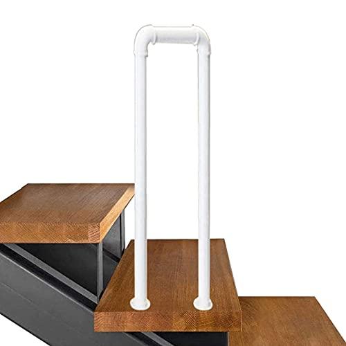 Pasamanos para pasos de interior al aire libre Stair Barand Barister Handrail for LOFT Corridor Soporte de seguridad Barra de barandilla para escaleras, tubo galvanizado de hierro forjado, para Niños