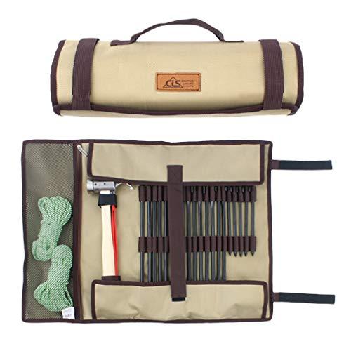 Bigood Accessoire d'Extérieur Sac de Clou de Sol Tente Corde Taille 62.5 * 44CM Kaki