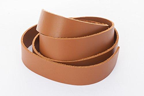 esnado Lederband, Lederriemen Flach 20 x 2 mm. Hellbraun 1 Meter