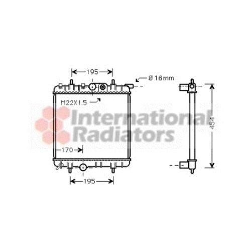 Van Wezel 40002243 radiador de refrigeración