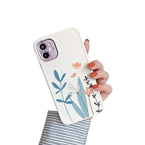 XWCG Funda Silicone Case para iPhone 12/12 Mini/12 Pro MAX Carcasa de Silicona Suave Antichoque Bumper con [Protección de La Cámara] Patrón Back Cover,2,11