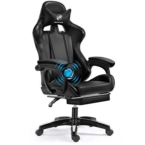LCSD Weew - Silla para videojuegos de PC, silla de oficina, silla de escritorio, silla de videojuegos, de fibra de carbono, respaldo alto, ergonómica,...
