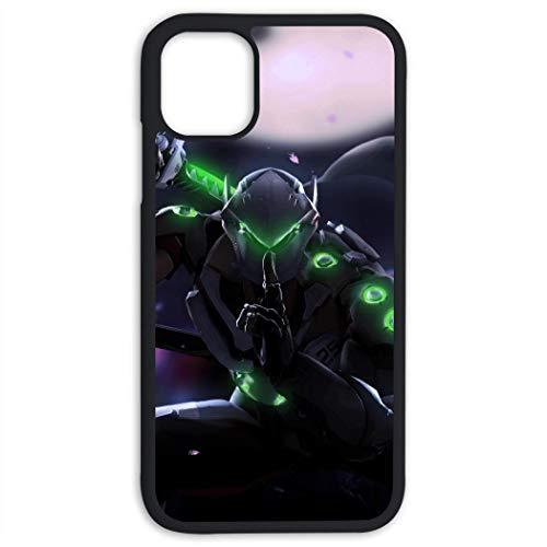 VSHFGC Over-Watch Gen-ji iPhone 11 Case TPU Silicone Hard Back Cover Anti Scratch Bumper Case for iPhone 11 (6.1 Inch)