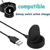 Ruentech Ladekabel Kompatibel mit Samsung Galaxy Watch Active Ladestation Ersatz Ladekabel Station für Galaxy Watch Aktive SM-R500 GPS Sportuhr Ladegerät Linie Zubehör 100 cm / 3,3 Ft (Black)