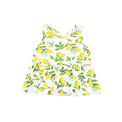 Ouneed® 6M - 36 M Bebe Ete Tunique Haut Citron Motifs (24m)