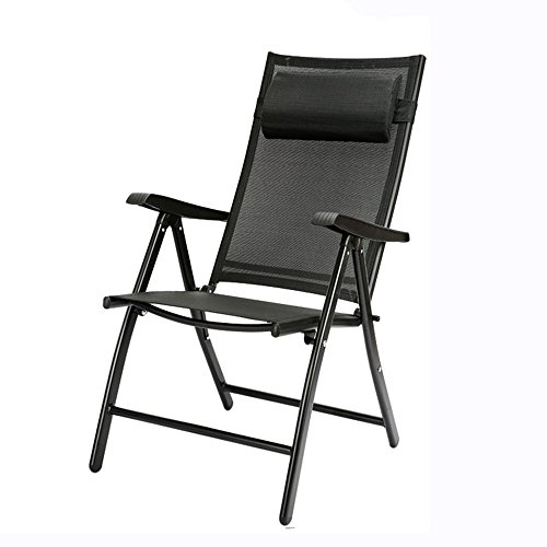WSDSX folding camping chair Thicken Reinforcement Folding Chair/Household Balcony Lounge Chair/Office Practical Space-saving Siesta Recliner/Outdoor Portable Beach Chair (6 Colors Available) Beach