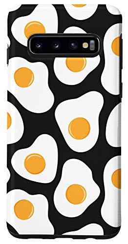 Galaxy S10 Fried Eggs Funny Keto Breakfast Food Pattern Phone Case
