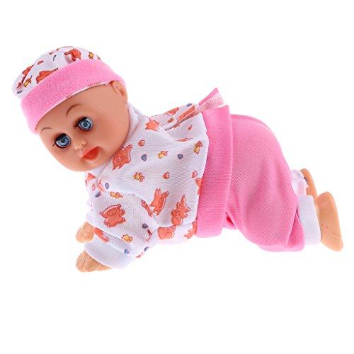 Sharplace Bebé Muñeca de Arrastre Interactiva Sonidos Músicas Juguetes Educativos para Niños - Rosa Floral