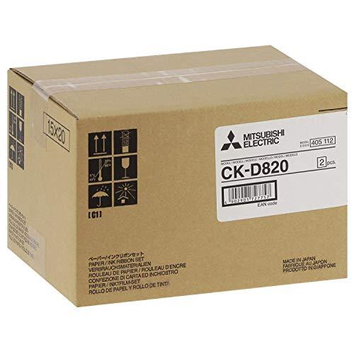Mitsubishi Electric CKD820 Set con cartucho de tinta de sublimación y rollo de papel