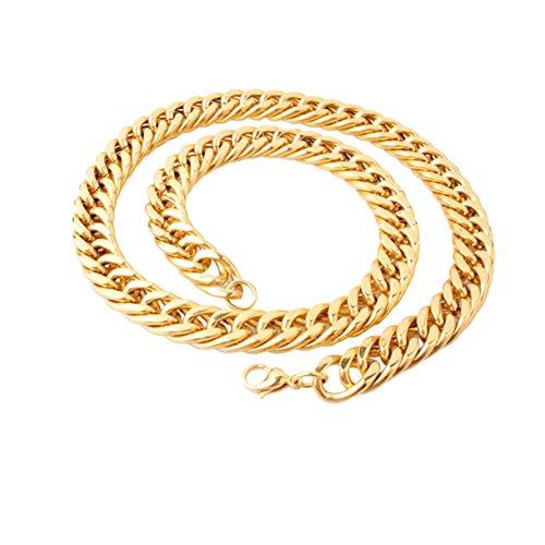 Aeici Acero Inoxidable Collares Cadenas Hombre Ancho 16mm Collar Cubano Cadena Collar Hombre Oro 24 Inch
