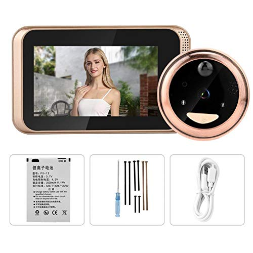 Guoshiy Timbre de Video, Timbre de WiFi, Kit de Timbre de Video HD de 4,3 Pulgadas 720P, Timbre de Video inalámbrico WiFi para iOS, aplicación de Android, hogar